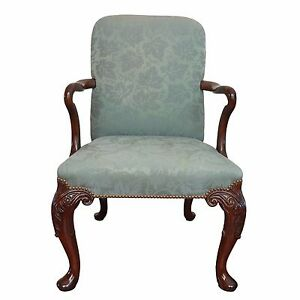 Baker Furniture Nailhead Trim Queen Anne Chair Ebay