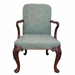 Baker Furniture Nailhead Trim Queen Anne Chair   eBay