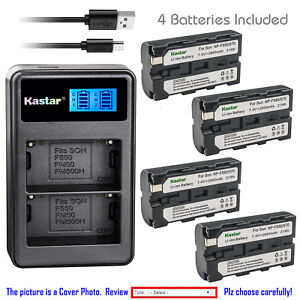 Kastar-Battery-LCD-Dual-Charger-for-Sony-NP-F550-Sony-MVC-FD73-MVC-FD75-MVC-FD81