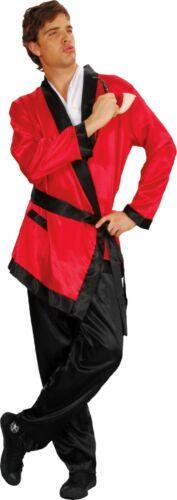 WH Mens Costume Fancy Dress Playboy Bunny Hugh Hefner Smoking Jacket Size S-M