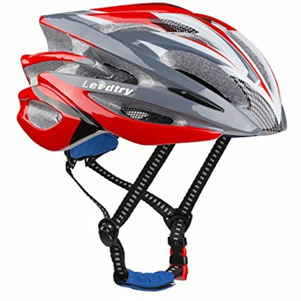 Bicycle Helmet Ultralight Integrally Molded EPS Bike Safety (red)