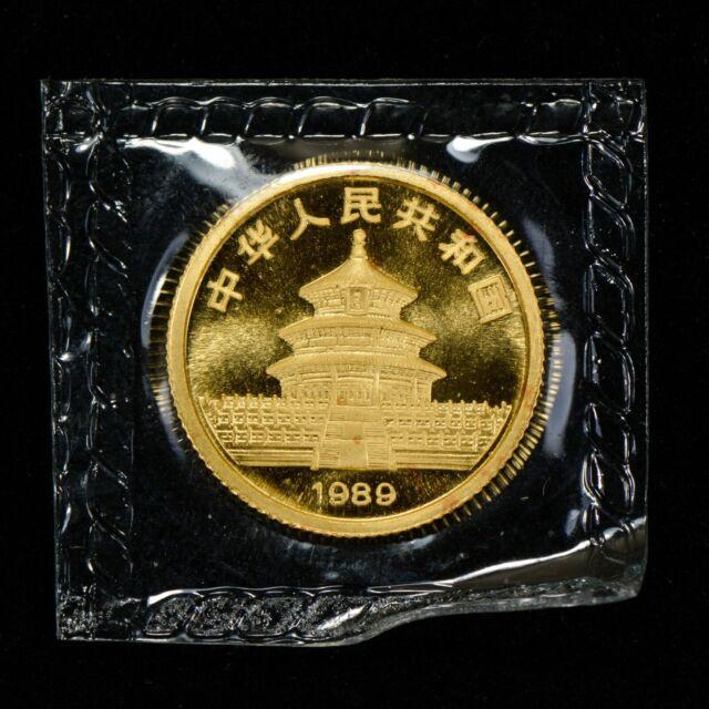 1989 10 YUAN CHINA 1/10 oz GOLD PANDA COIN *SEALED OMP* LOT#Z124