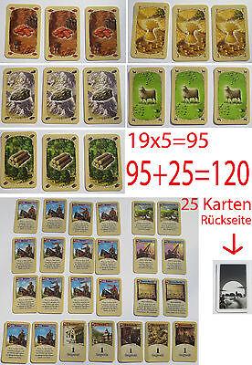 Coloni Di Catan 120 Carte Completo 95 Carte Delle Materie Prime 25 Carte Sviluppo-rten It-it Mostra Il Titolo Originale