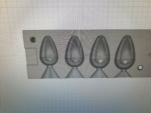 FISHING 4 IN 1 ROUND PEAR LEAD WEIGHT MOULD   2.5  3 3.5 4OZ CNC ALUMINIUM
