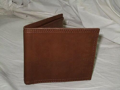 FIRETRAP Synthetic Leather Bifold Wallet  Brown BNWT