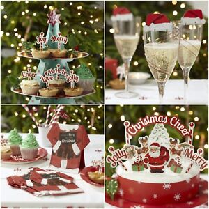 Christmas Cheer.Details About Ginger Ray Fun Christmas Cheer Cake Glass Decorations Napkins Food Flags