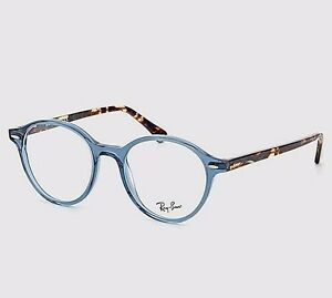d9a7904cbd NEW RAY BAN RB7118 8022 DEAN ADULT UNISEX BLUE ROUND 49mm Rx ...
