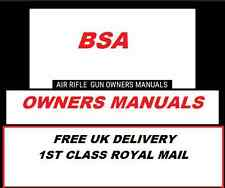 BSA AIRGUN AIR RIFLE GUN OWNERS MANUAL  USER Disc  #Airrifle
