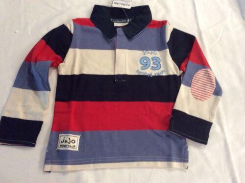 JoJo Maman Bebe Multi Stripe Rugby Top Size 2-3 yrs or 3-4 yr NWT Boys Shirt New