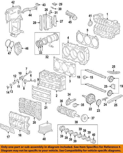 porsche oem 2004 911-engine short block 99610190192