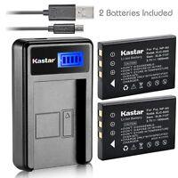 Kastar Battery And Lcd Slim Usb Charger For Fujifilm Np-60 Kodak K5000