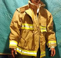 Sperian Morning Pride Firefighter Turnout Gear Gold Coat Vectra 54 Reg Xxl