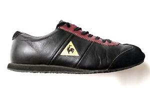 76eba586f7db Le Coq Sportif Quartz Nylon Gum Trainer Black Mens Retro Shoes Sz ...
