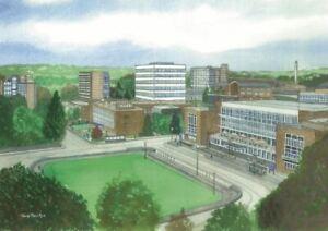 Swansea University, Singleton Campus - Greetings Card - Tony Paultyn