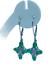 thumbnail 1 - Colombia Emerald & Zircon 9K White Gold Drop Earrings tgw 2.18cts