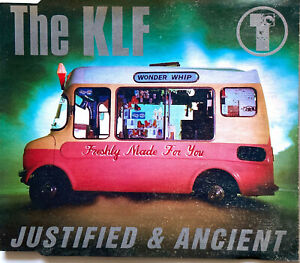 The KLF Maxi CD Justified & Ancient - France (EX/VG+)