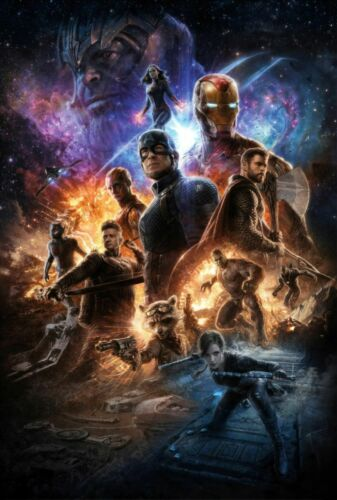 B403 New Avengers Endgame 2019 Marvel Comics Film Poster Hot Fabric 32x48 24x36