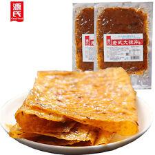 Chinese Food Snack零食小吃 Gluten Snacks Latiao怀旧儿时手撕辣皮辣条豆皮包邮 源氏老式80后大辣片230g*6包