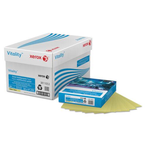 Xerox Vitality Pastel Multipurpose Paper 8 1//2 x 11 Yellow 500 Sheets//RM 3R11053