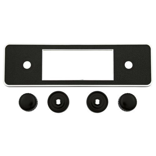 RETROSOUND CLASSIC RADIO BLACK CHROME FACEPLATE /& BLACK KNOB KIT 230-328