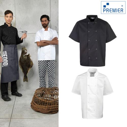 Cuisine Cook Workwear Premier cloutées devant à manches courtes chef/'s Jacket PR664