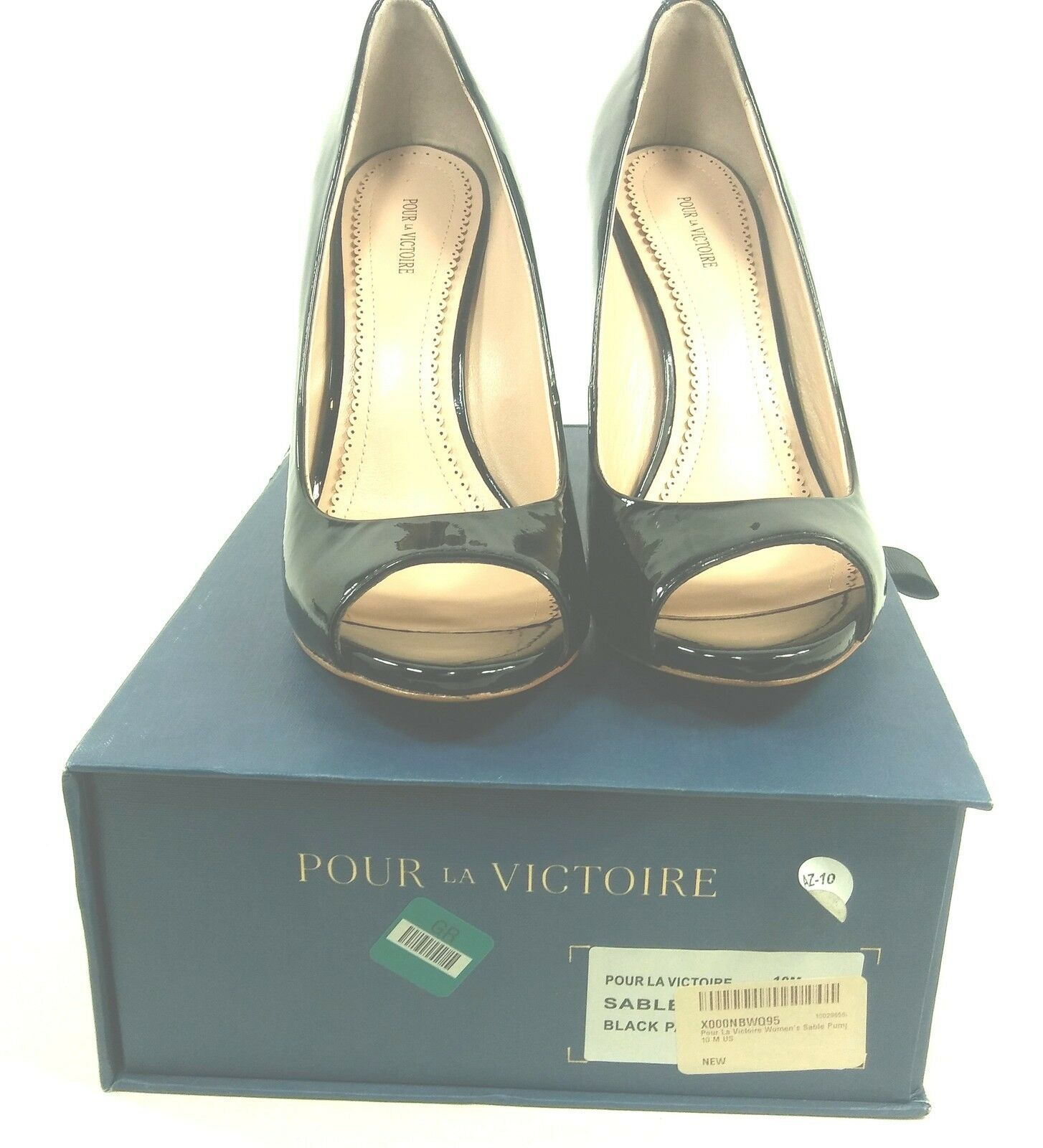 POUR LA VICTOIRE, SABLE PUMP, damen, schwarz, US Größe 10 10 10 M, EUR 40, NEW IN BOX 2fa4c6