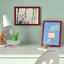 Indexbild 2 - IKEA FISKBO Bilderrahmen 21 x 30 cm dunkelrot A4 Fotorahmen Foto Rahmen NEU