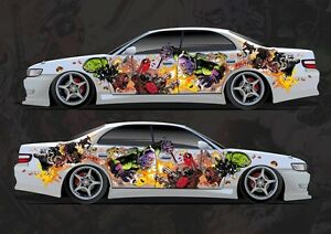 Car Side Full Color Graphics Vinyl Sticker Custom Body Decal - Car decal stickers custom