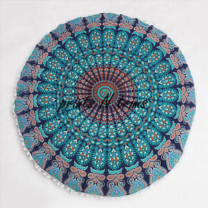 Indian-Ottoman-Large-Floor-Pillows-Mandala-Tapestry-Round-Cushion-Cover-32-Inch