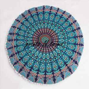 Indian Ottoman Large Floor Pillows Mandala Tapestry Round Cushion Cover 32 Inch Ebay
