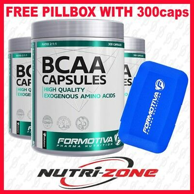 Formotiva Bcaa High Quality Exogenous Amino Acids Vit B6 - Pillbox With 300cps