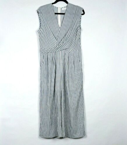 Summer Blue White Sleeveless Jumpsuit New Twist Large Wide Leg Elodie Striped tIvtRxq