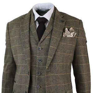 Sur Chevrons À Pièces Tweed Classique Détails Marron Cintré Homme Costume 3 Clair Carreaux qzGMUpSV