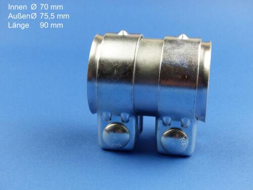 Reparaturschelle 70x90mm  Verbindungsschelle Auspuffrohr