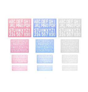 Paquete De 4 Letras de la plantilla Plantillas Set letra del alfabeto número símbolo Escuela Hogar