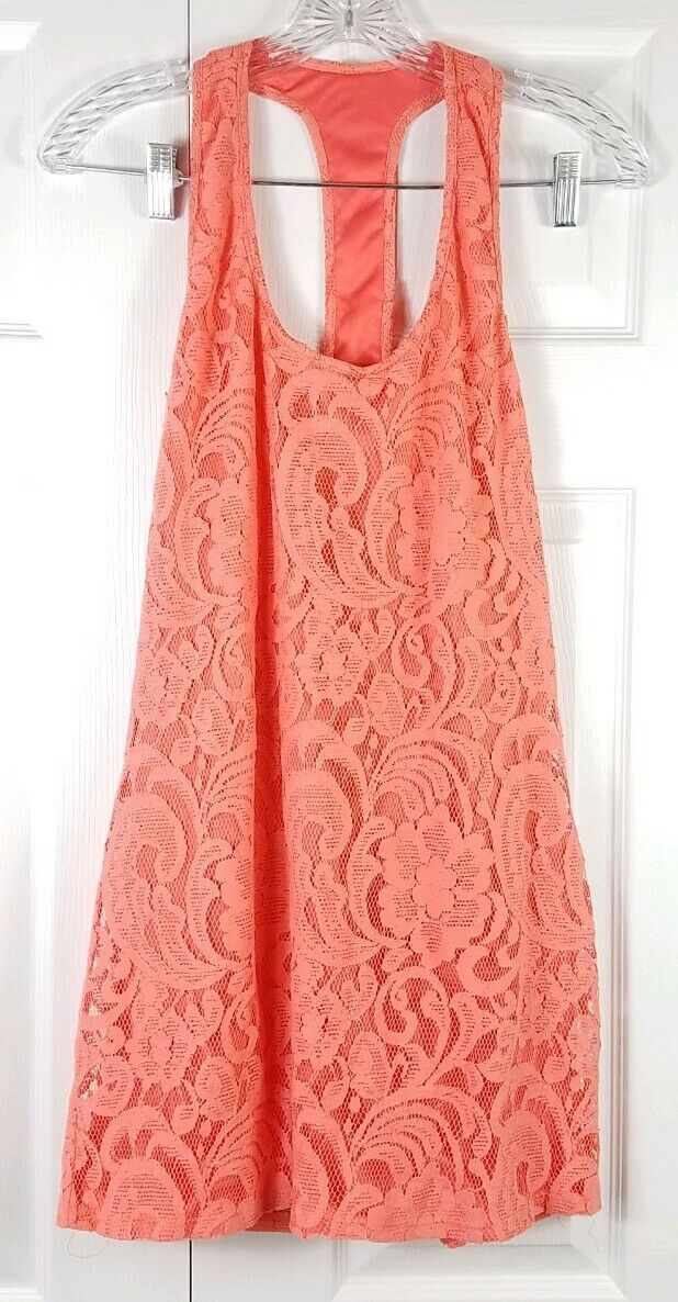 NWT SHOW ME YOUR MUMU damen Größe M coral Orange Tina T-back crochet dress