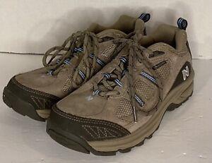 New Balance 646 Womens Sz 9 B Hiking Trail Shoe Water Resistant Tan Suede 15-9