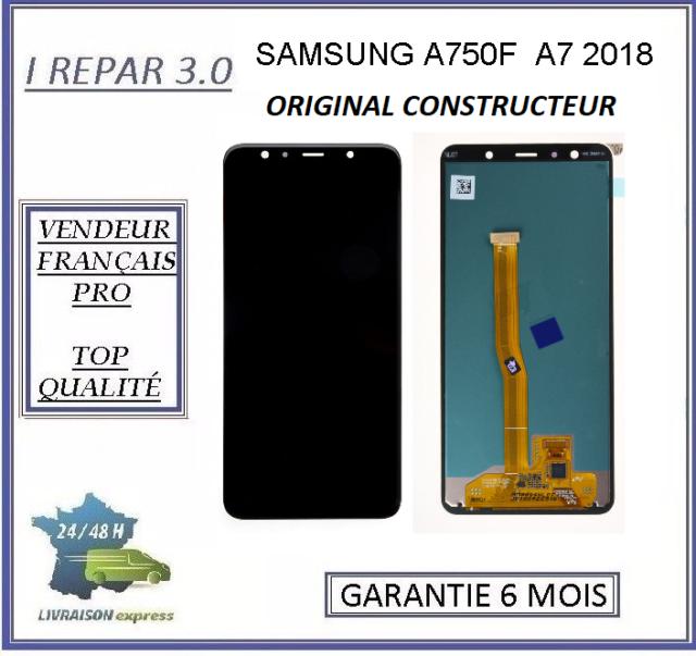 Ecran complet A7 2018 Original Samsung  A750F Noir
