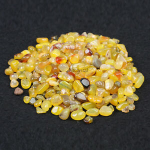 200g-Bulk-Tumbled-Stone-Yellow-Agate-Quartz-Crystal-Healing-Reiki-Mineral-Pouch