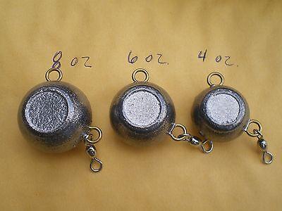 W//#1 CRANE SWIVEL 12 PCS FLUKE EAR BALL JIGS 2,3,4 OZ 4 EACH-UNPAINTED
