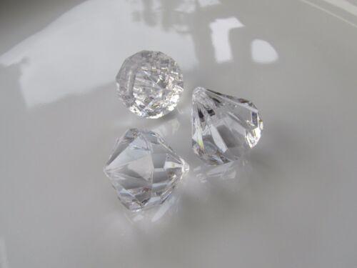 Jewellery Craft Design 25mm x 20mm Clear Faceted Teardrop Rock Pendants Beads PK