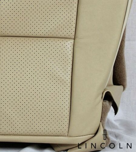 2007-2014 Lincoln Navigator-Driver Side Bottom PERFORATED Leather Seat Cover TAN