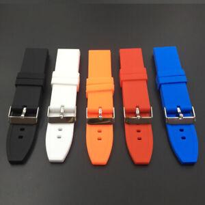 Silicone-Rubber-Waterproof-Sport-Wrist-Watch-Band-Strap-16-18-20-22-24-26-28mm
