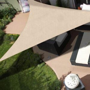 Vela Telo Parasole 4x4mt Tenda Triangolare Ombreggiante Giardino Tessuto Beige