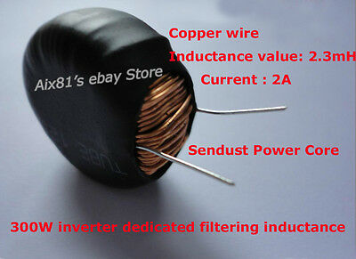 Sendust Power Core Magnetic Coil Inductor 2A 2.3mH Inductance 300W Inverter new