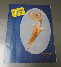 1957 World Famous HOLIDAY ON ICE Souvenir Program 12th Ed, VG 20 pgs
