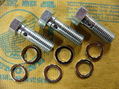 Honda CB 750 Four K0 K1 K2 Halterung Bremsschlauch Bremsleitung Bremse vorne Neu