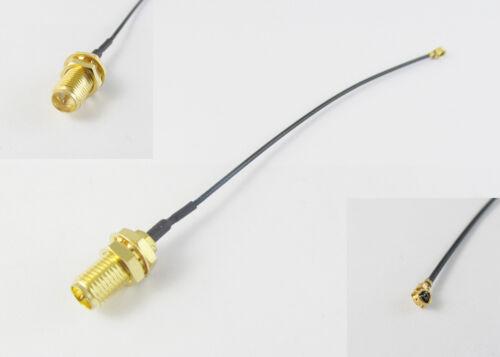 10x U.FL//IPX to RP-SMA Female Nut Bulkhead Pigtail 1.13 Cable PCI Wifi Card 10cm