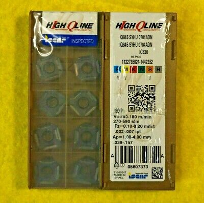 Inserts  IQ845 SYHU 0704ADN-MM IC830 Carbide Inserts Iscar 10 pcs