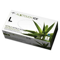 Medline Aloetouch Ice Nitrile Exam Gloves Large Green 200/box Mds195286 on sale